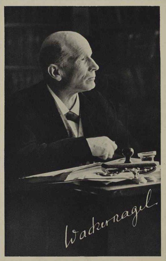 Jakob Wackernagel (1853–1938) Professor für Indogermanische Sprachwissenschaft