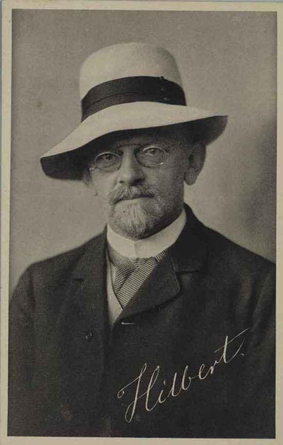 DAVID HILBERT (1862–1943) Professor of Mathematics