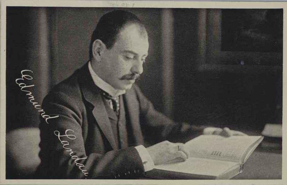 EDMUND LANDAU (1877–1938) Professor of Mathematics