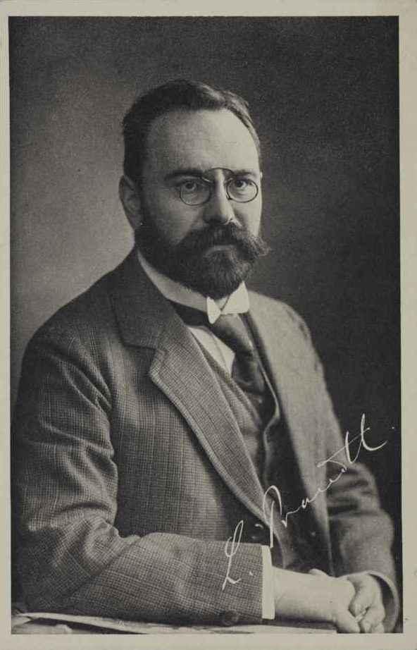 LUDWIG PRANDTL (1875–1953) Head of the Aerodynamic Research Institute Göttingen